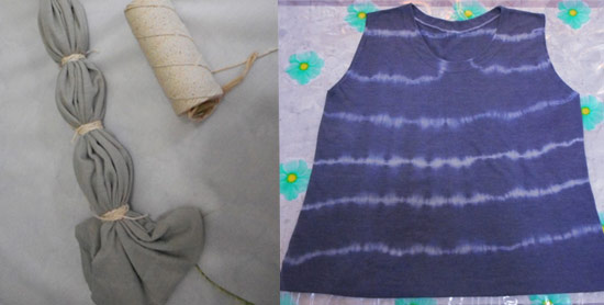 como customizar camiseta tie-dye