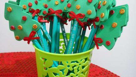 Lembrancinha para o natal - lápis com EVA