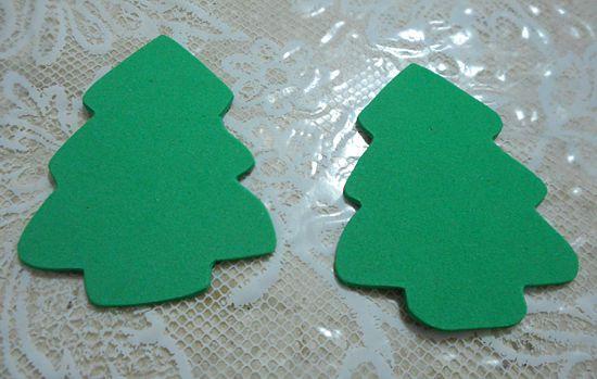 lembrancinha natal como fazer diy lapis arvore artesanato eva customizando 2 Lembrancinha de Natal: lápis com árvore de EVA