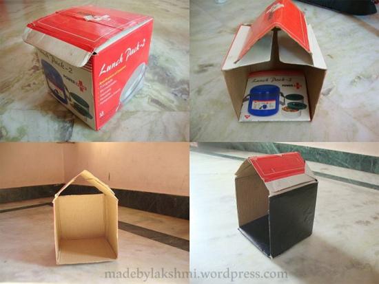 Como fazer presépio com caixa de papelão