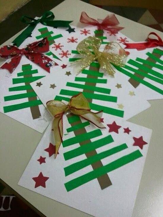 Atividades de natal para educação infantil - árvore de natal com papel