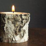 Como fazer castiçal com tronco pequeno