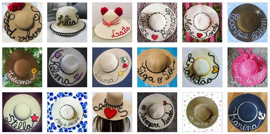 Chapéu de palha customizado: ideias do Instagram