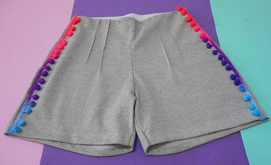 Como customizar shorts com pompom