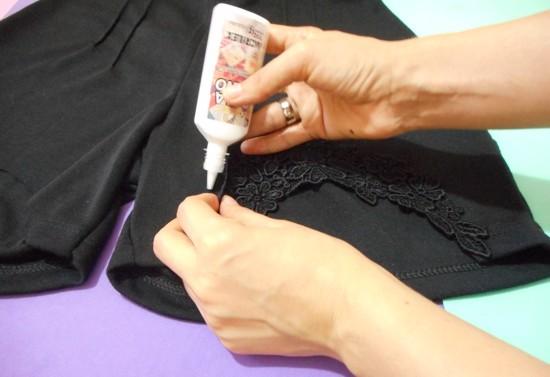 Como customizar shorts com renda