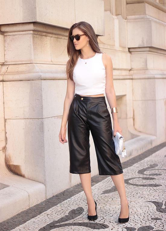 Como usar calça Pantacourt - calça de couro