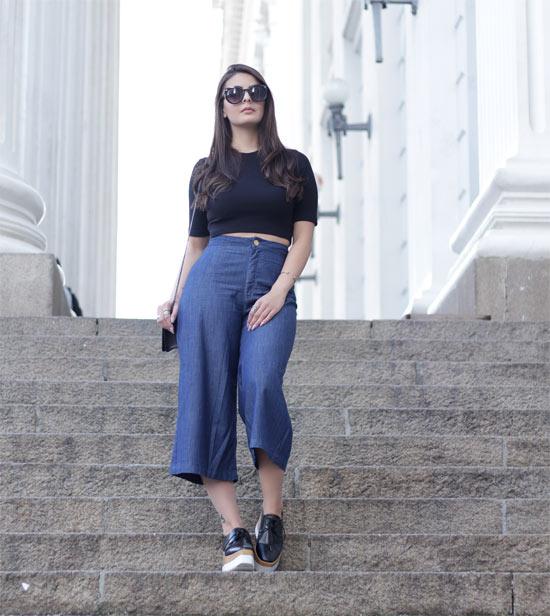 Como usar calça Pantacourt - calça jeans