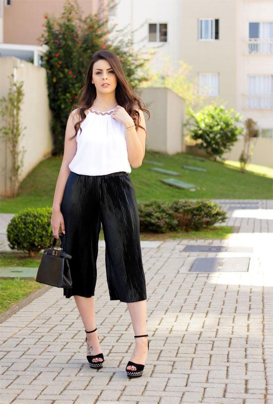 Como usar calça Pantacourt - calça plissada