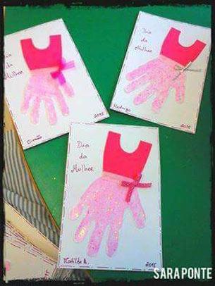 ideias de cartão para dia internacional da mulher