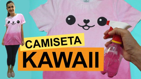 Como customizar camiseta kawaii