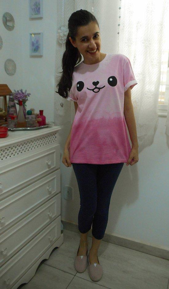como fazer camiseta kawaii - moda e customização - Customizando Mariely Del Rey
