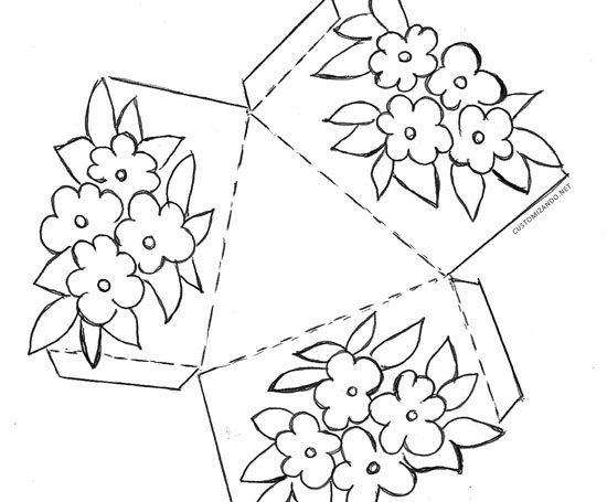 Molde caixinha de papel