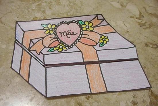 cartão presente lembrancinha Dia das Mães