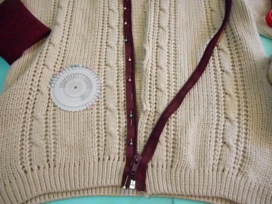 Como transformar blusa de tricô de lã em jaqueta