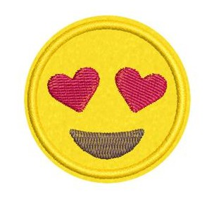 Ideias de patches para personalizar seu jeans - patch termocolante emoji apaixonado