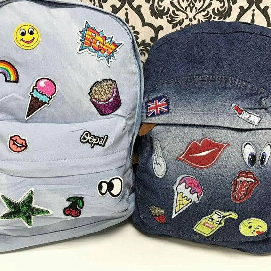 Mochila customizada com patches