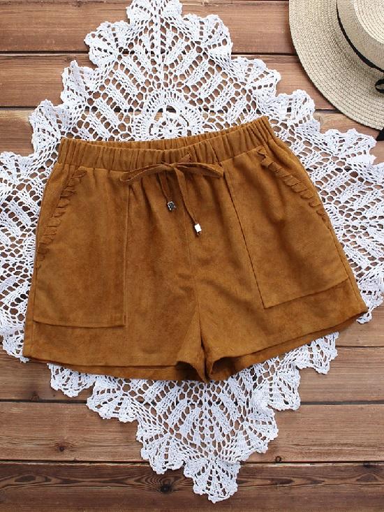 Shorts de camurça
