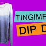 Como tingir blusa dip dye