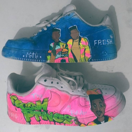Os tênis customizados de Juliana Schiezaro, da From Ghetto to Ghetto