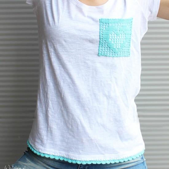 Ideias para customização de camiseta com crochê