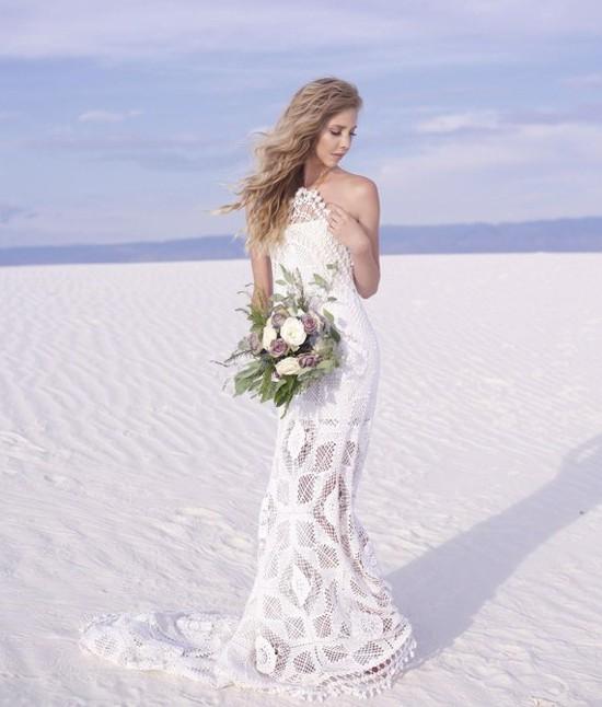 Vestido branco de crochê - moda noiva casamento