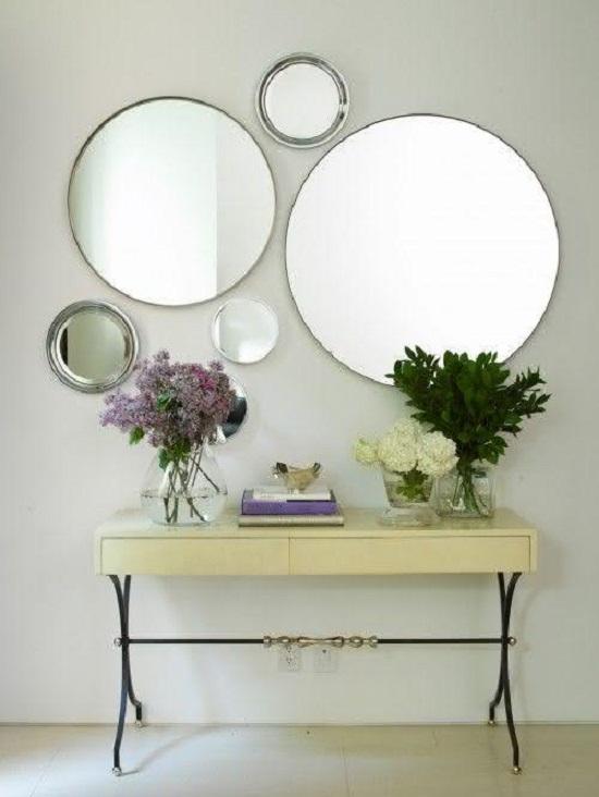 Decoração com espelhos