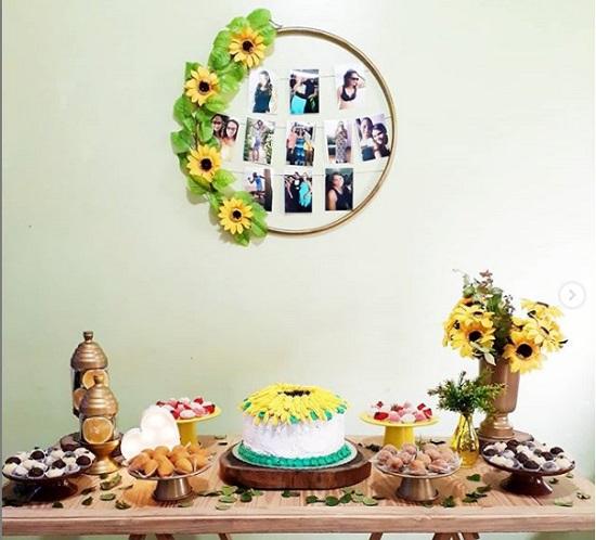 Decoraç u00e3o de festa com tema girassol CUSTOMIZANDO NET Blog de customizaç u00e3o de roupas, moda  -> Decoração De Festa De Aniversario Girassol