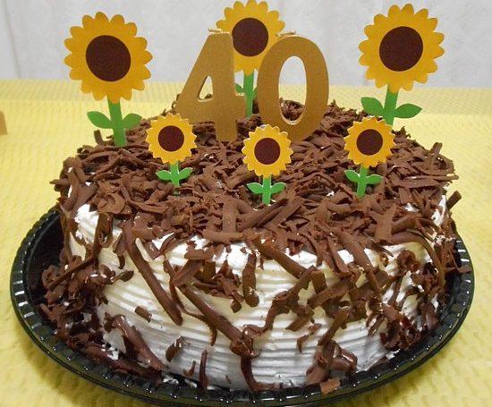 como fazer decoração bolo girassol