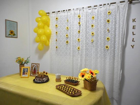 Como decorar festa simples girassol