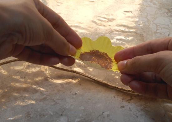 Como fazer enfeite de cortina girassol