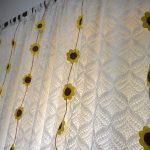 Enfeite de cortina girassol