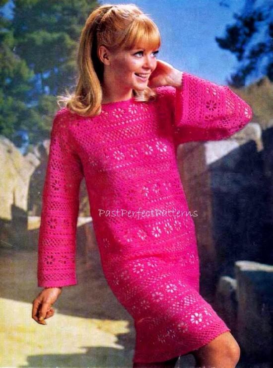 Ideias de vestido de crochê para o outono/inverno