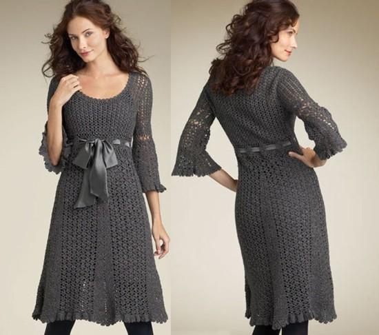 ideias de vestido de crochê moda outono inverno
