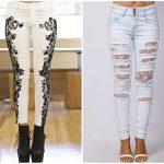 Inspiração: calça jeans com renda