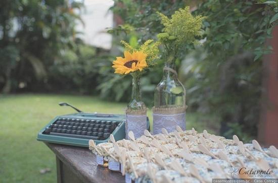 Decoração com máquina de escrever