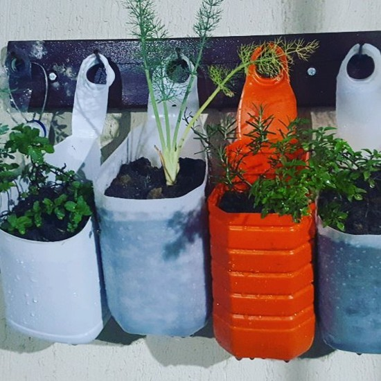 Ideias para vasos reciclados
