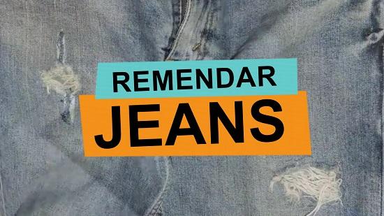 como remendar calça jeans