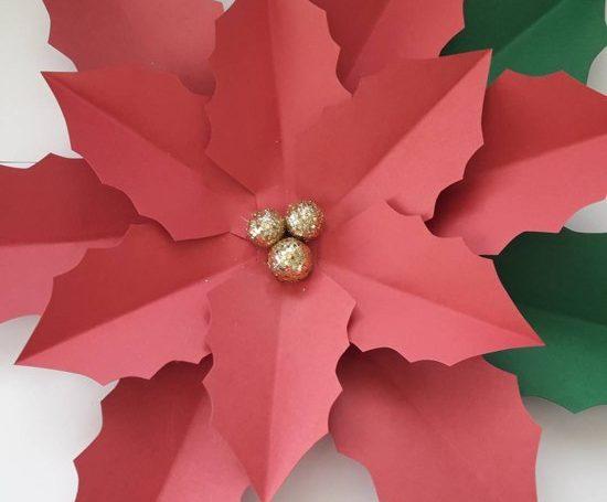 Flores de papel natalinas