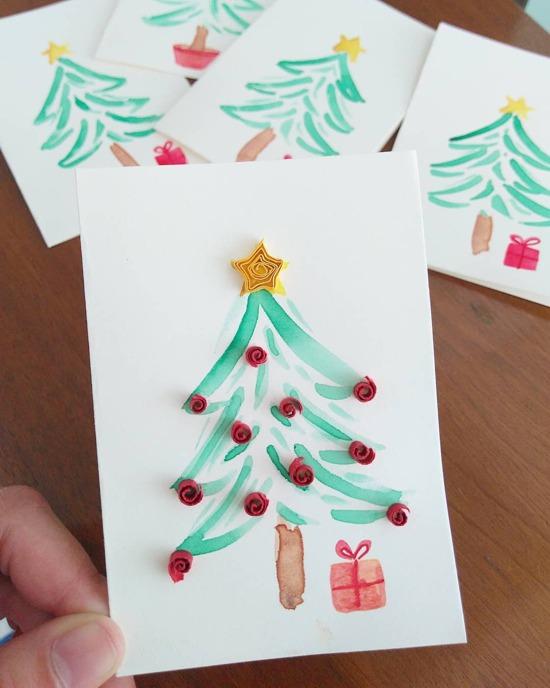 Cartão de Natal para fazer com as crianças