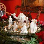 Decoração de Natal com presépio