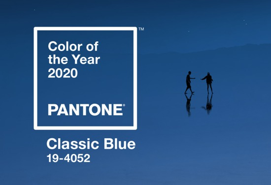 A cor de 2020 Pantone: Classic Blue