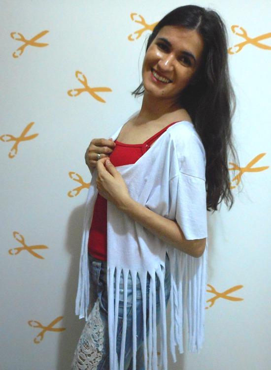 Como fazer um kimono passo a passo usando camiseta