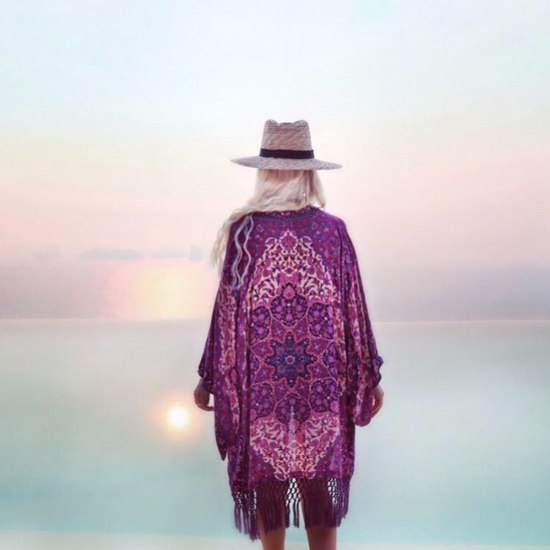 Inspiração: kimono saída de praia