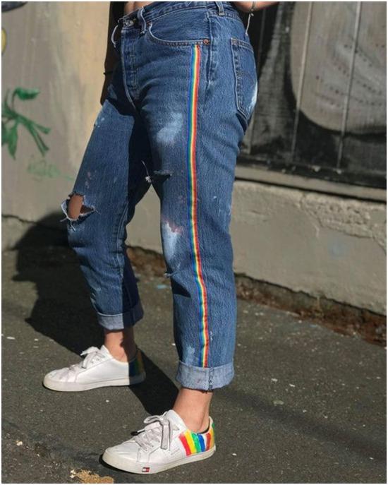 Remendar calça jeans