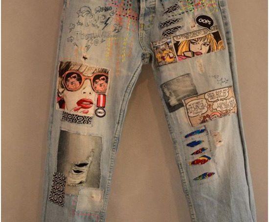 A calça jeans rasgou? Não jogue fora! Veja como você pode remendar e ficar na moda.