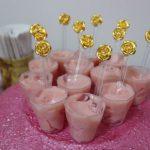Decoração festa simples rose gold, dourado e rosa