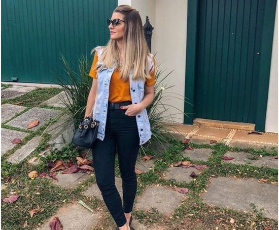 Como usar colete jeans