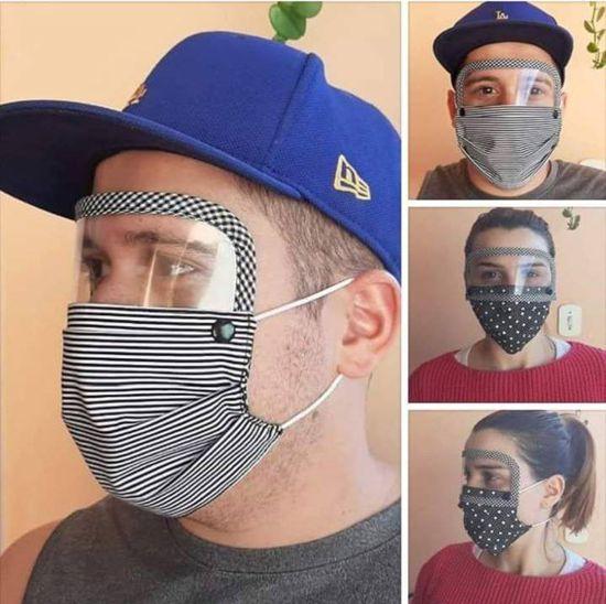 como fazer máscara com visor