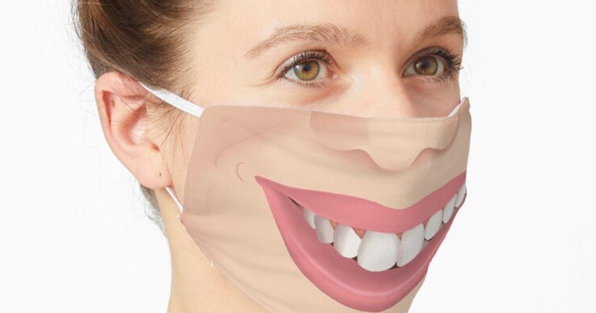 máscara divertida