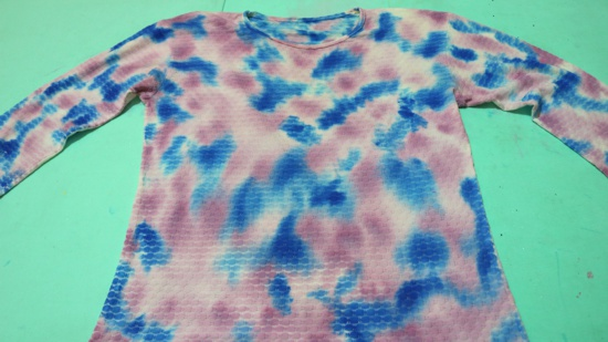 Passo a passo como fazer estampa tie dye sem amarração
